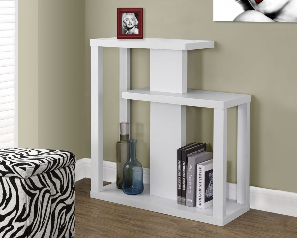 """White 32"""" Hall Console Accent Table"""