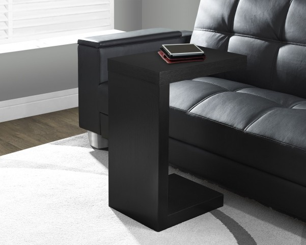Black Hollow-Core Accent Table