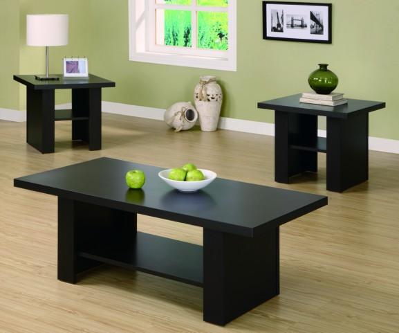 2514P Cappuccino 3Pcs Occasional Table Set