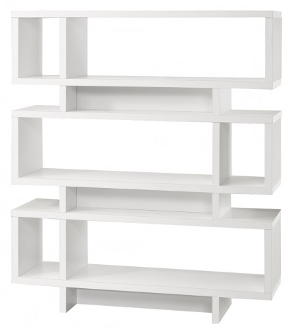 "2532 White 55"" Bookcase"