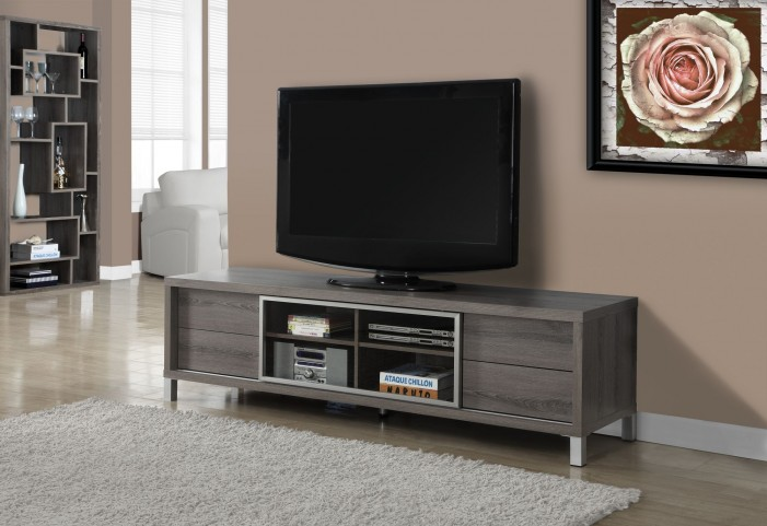 Dark Taupe Reclaimed-Look Euro TV Console