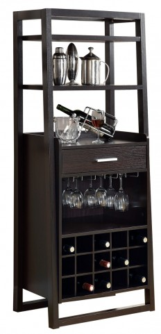 2543 Cappuccino Ladder Style Bar Unit