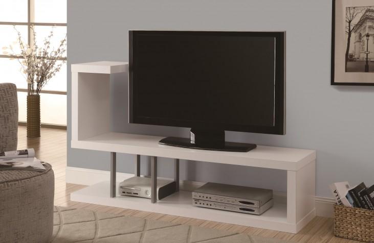 """2551 White 60"""" TV Console"""