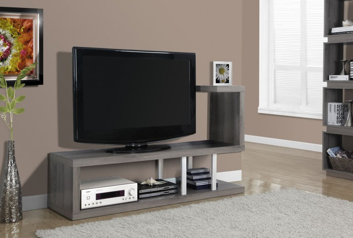 Dark Taupe Reclaimed Look TV Console