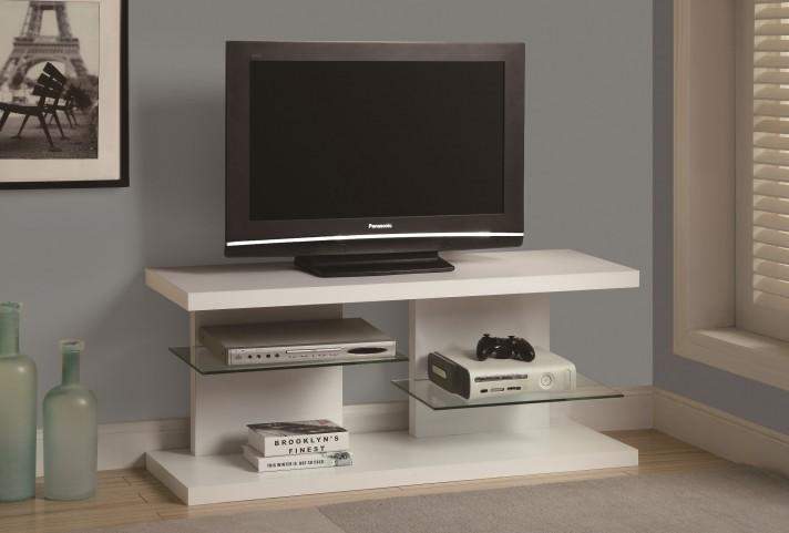 """2556 White 48"""" TV Console"""