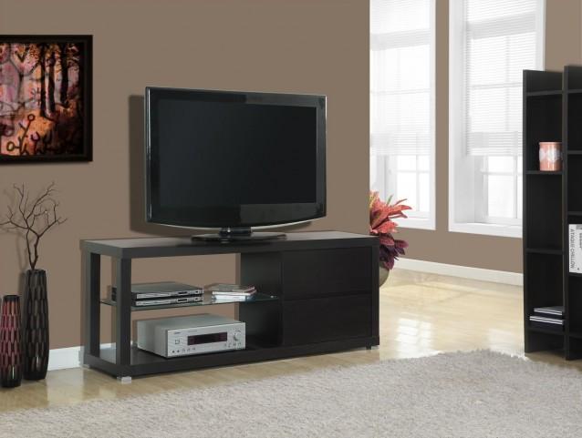 2581 Cappuccino Hollow-Core TV Console