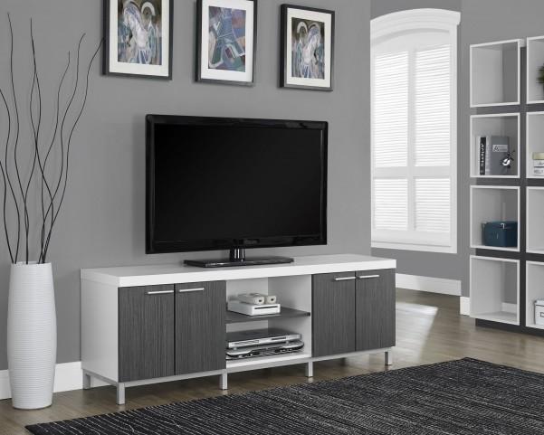 White/gray Hollow-Core TV Console
