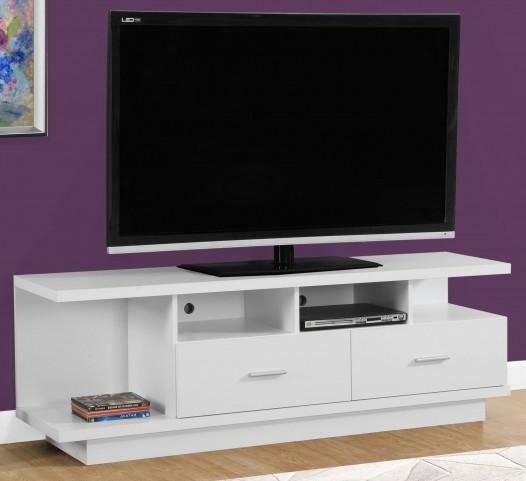 """2676 White 60"""" TV Stand"""