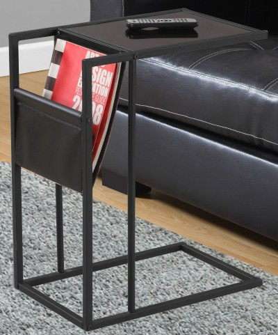 3068 Black Metal Accent Table