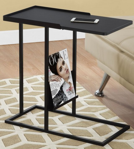 3097 Black Metal Accent Table