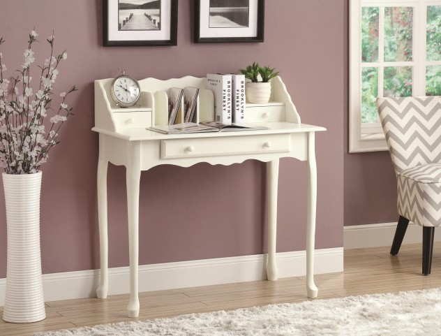 "3103 Antique White Traditional 36"" Secretary Desk"