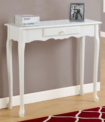 "Antique White 36"" Accent Table"