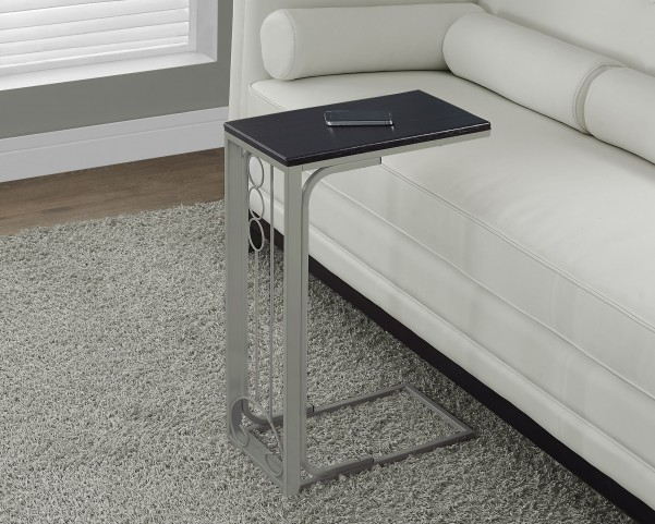 Champagne Metal Cappuccino Top Accent Table
