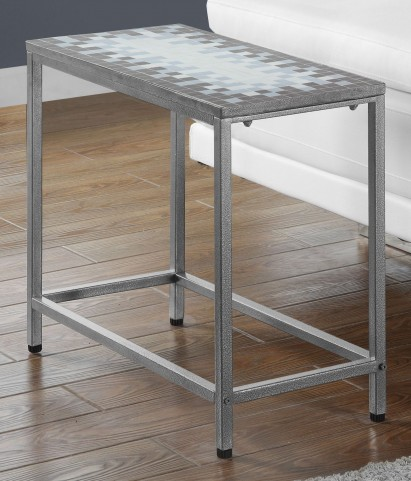 Gray Rectangular Accent Table