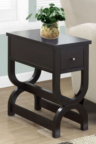 3147 Cappuccino Drawer Accent Table