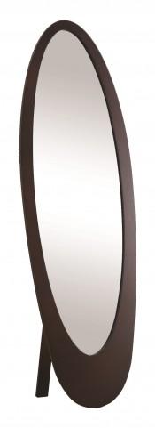 3360 Cappuccino Oval Cheval Mirror