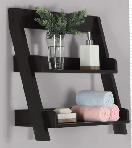 "Cappuccino 24"" Wall Mount Shelf"