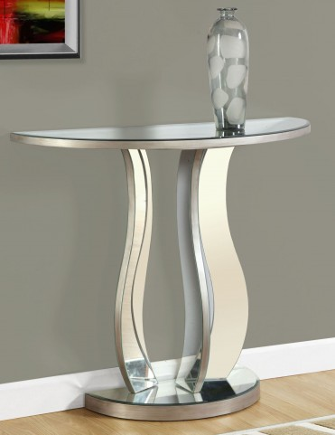 "Brushed Silver 36"" Console Table"