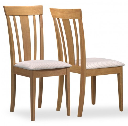 4358 Maple Fabric Side Chair Set of 2
