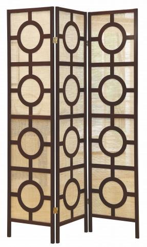 4620 Cappuccino Frame 3 Panel Folding Screen