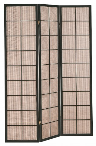 4628 Cappuccino 3 Panel Folding Screen