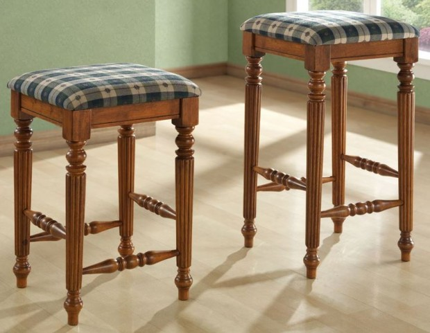 "Dark Oak 29"" Barstool Set of 2"