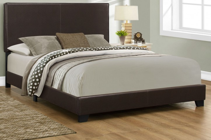 Queen Dark Brown Platform Bed
