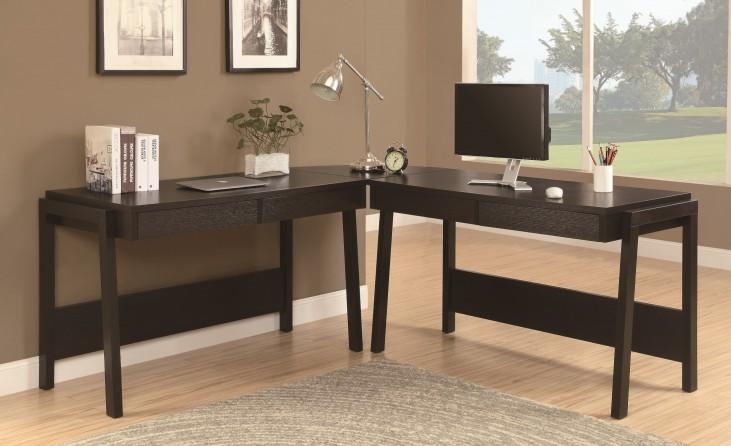 7033-3 Cappuccino 3Pc Computer Deskc Set