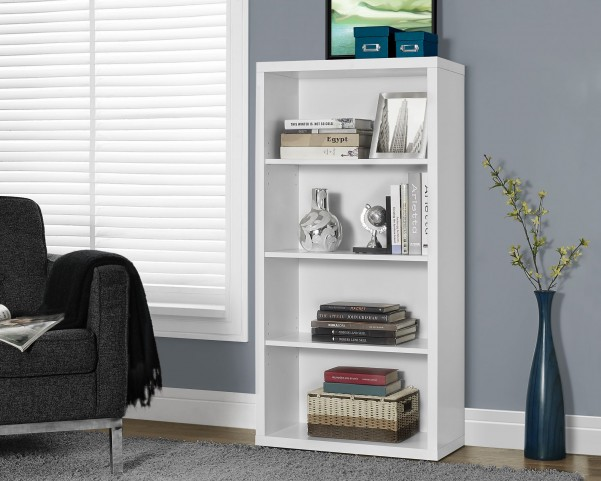 "White Hollow-Core 48"" Bookcase"