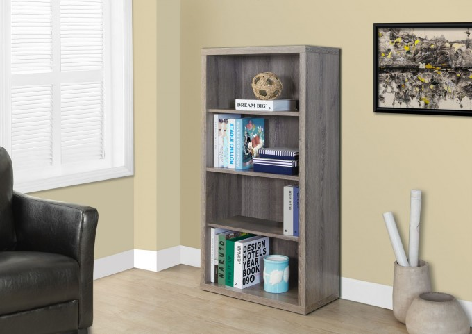 "Dark Taupe Reclaimed-Look 48"" Bookcase"