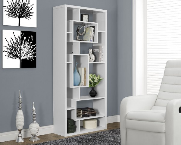 "White Hollow-Core 72"" Bookcase"