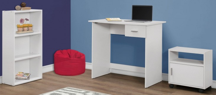 White 3 piece Home Office Set