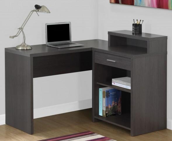 Gray Corner Storage Computer Desk