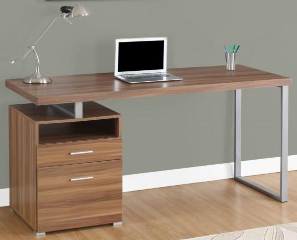 "Walnut 60"" Computer Desk"