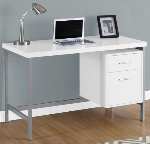 """7149 White 48"""" Computer Desk"""