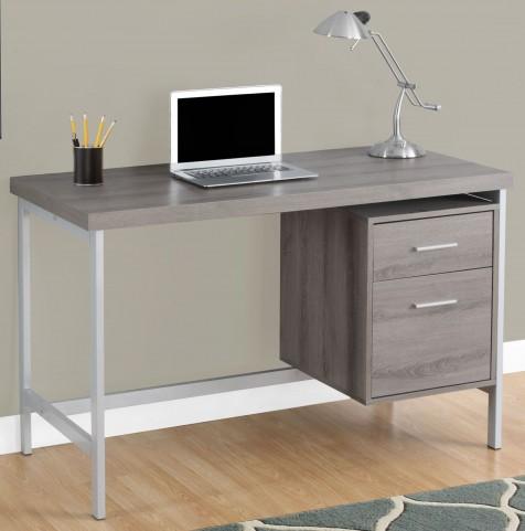 """7150 Dark Taupe 48"""" Storage Drawer Computer Desk"""