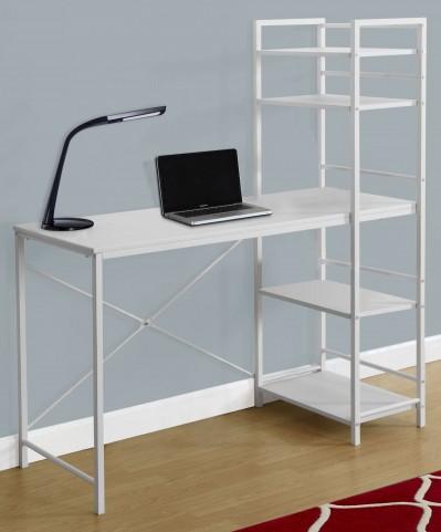 """White Top 48"""" Computer Desk"""