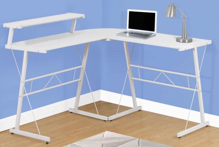 White Top Computer Desk