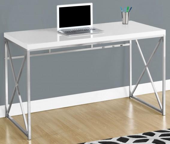 "Glossy White 48"" Computer Desk"