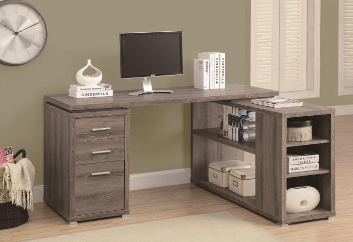 7319 Dark Taupe Left / Right Facing Corner Desk