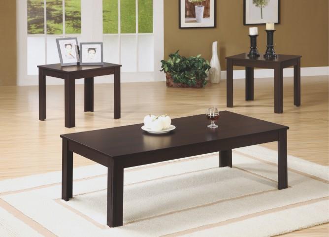 7842P Cappuccino 3Pcs Table Set