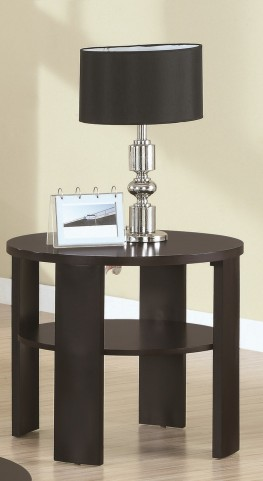 7861E Cherry Round End Table