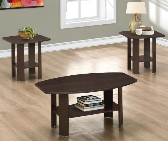 Cappuccino 3 Piece Occasional Table Set