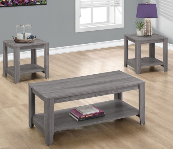 7991P Gray 3 Piece Occasional Table Set