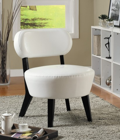 8015 Ivory Bonded Leather Accent Chair