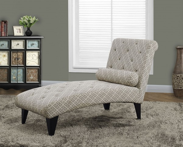 Sandstone/gray Maze Fabric Chaise Lounger