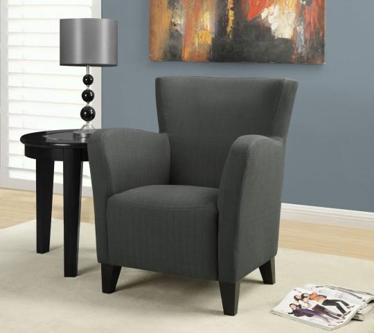 Charcoal gray Linen Fabric Club Chair