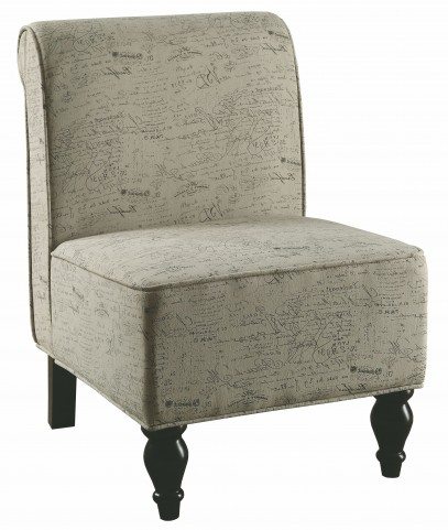 8123 Vintage French Fabric Traditional Accent Chair