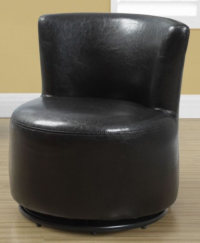 Dark Brown Leather Juvenile Swivel Chair