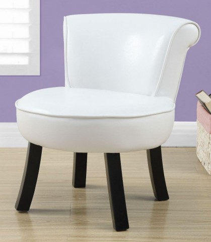 White Leather Juvenile Chair
